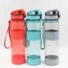 Bình nước nhựa nắp bật in logo quà tặng doanh nghiệp 3 màu: đỏ, xám,xanh