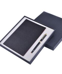 Bộ giftset in logo quà tặng doanh nghiệp cao cấp bao gồm sổ da, bút ký kim loại