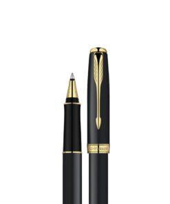 Bút ký kim loại viền vàng in logo quà tặng doanh nghiệp