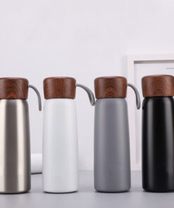 bình giữ nhiệt nắp vân gỗ in logo quà tặng doanh nghiệp